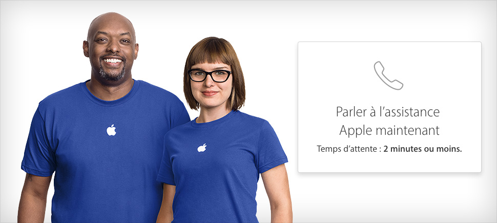 Aperçu de l'assistance Apple